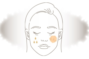女性顔イラスト